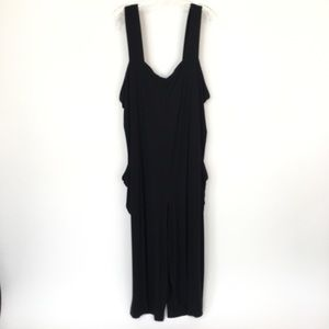 Eileen Fisher size 1X black jersey tank top romper